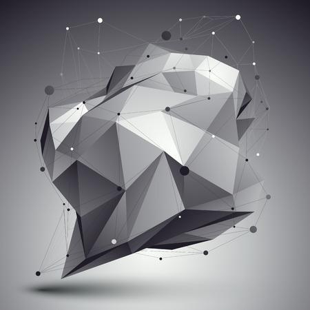 apex: Geometric vector abstract 3D complicated lattice backdrop, single color eps8 conceptual tech illustration.