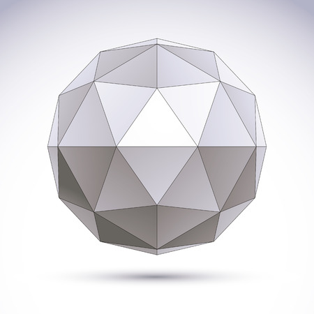 rhomb: 3D polygonal geometric object, vector abstract design element, clear eps 8.