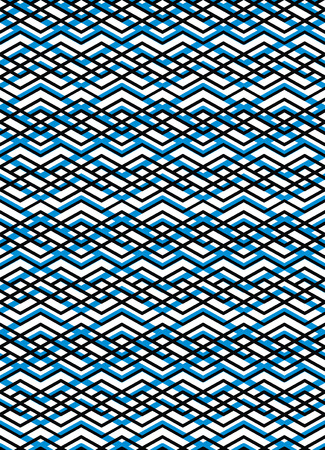 intertwine: Bright rhythmic textured endless pattern, stripy continuous creative textile, geometric motif background.