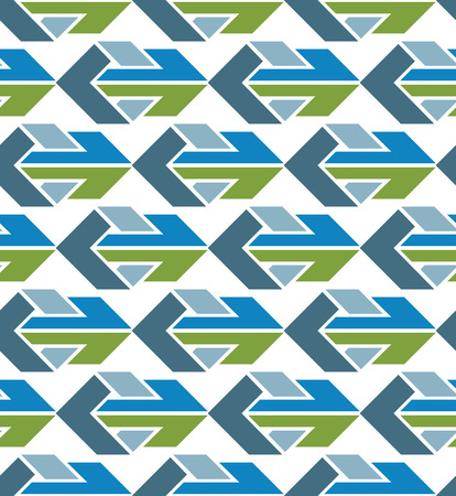 Bright abstract seamless pattern with arrows. Vector wallpaper with arrowheads. Endless decorative background, best for graphic and web design. Vector