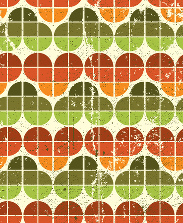 crannied: Ornamental worn textile geometric seamless pattern, vector natural abstract background.