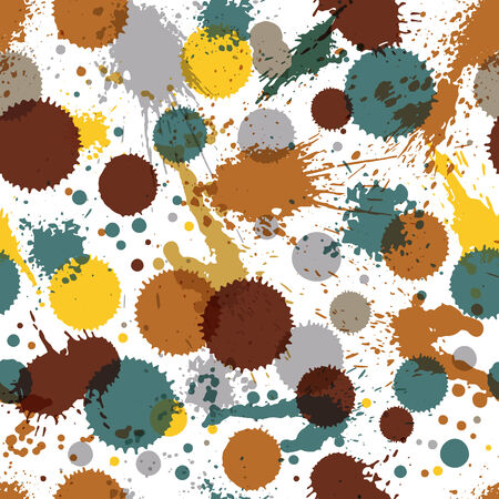 untidy: Artistic colorful abstract dirty ink template, scanned and traced splashing decorative backdrop. Rough grungy repeat background. Illustration