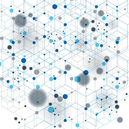 an overlay: Geom�trico abstracto del vector 3D contexto complicado op art, eps10 tecnolog�a de Internet, la mejor para web y dise�o gr�fico. Cubierta transparente con figuras geom�tricas superpuestas, puntos conectados, efecto de movimiento.
