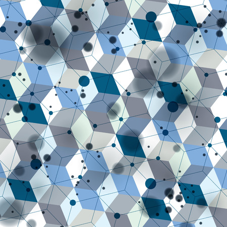 3d spatial lattice covering, complicated op art background with geometric shapes, eps10. Science and technology theme. Abstract network, lace backdrop with motion effect.