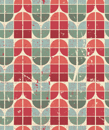 crannied: Colorful tattered geometric seamless pattern, vector decorative abstract background.
