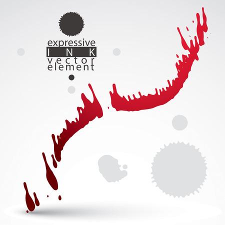 imprecise: Watercolor bright graffiti splash element, inaccurate paint backdrop, eps8 asymmetric spotted shape. Illustration
