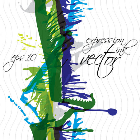 untidy: Vector grungy watercolor shaded painting, expressive messy blob seamless pattern, eps10, colorful untidy background.