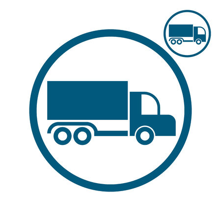 pictogramme: Truck vector simplistic icon.
