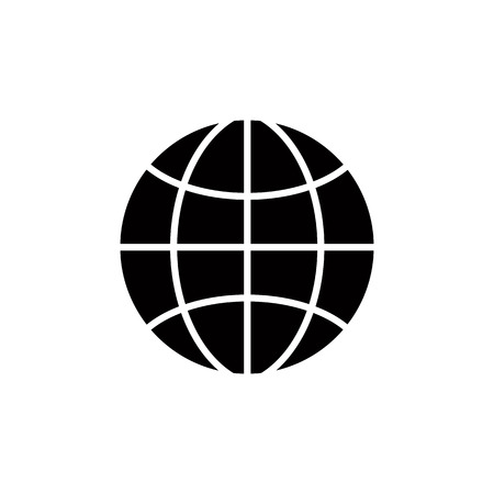 simplistic icon: Earth simplistic vector icon. Illustration