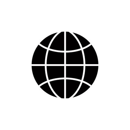simplistic icon: Earth simplistic vector icon. Illustration