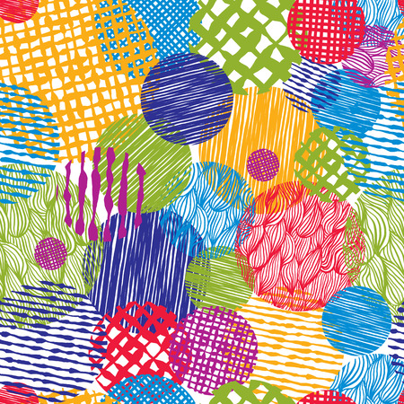Hand drawn lines textures messy seamless pattern, vector hand drawn background. 向量圖像