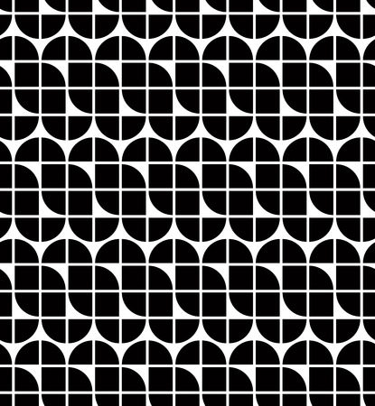elliptic: Black and white abstract geometric seamless pattern, contrast regular background. Illustration
