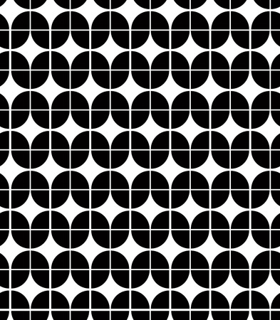 elliptic: Black and white abstract geometric seamless pattern, vector contrast regular background. Illustration