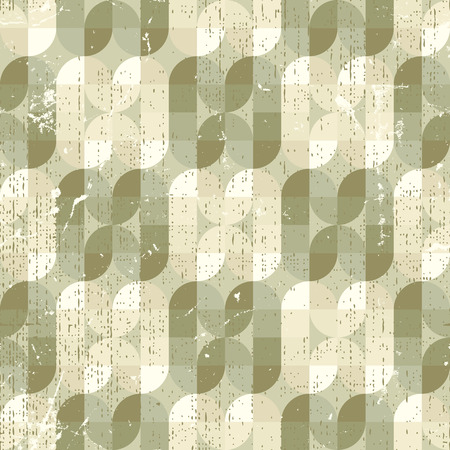 Neutral frayed textile geometric seamless pattern, decorative abstract infinite retro background.