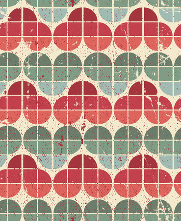 crannied: Ornamental worn textile geometric seamless pattern, vector decorative natural background.