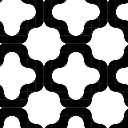 extravagant: Ornate tiles seamless pattern, geometric vector background. Illustration
