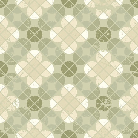 Vintage floral quatrefoil seamless pattern, vector geometric abstract backdrop. Vector