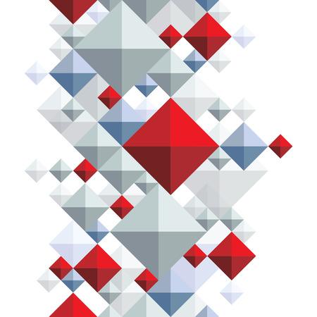 entwine: Sfondo luminoso quadrato geometrico, rombico trasparente senza soluzione di modello.
