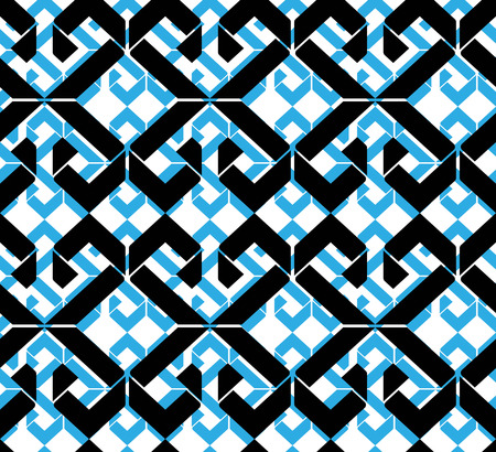 fissure: Seamless pattern with rhombs, colorful infinite geometric mosaic textile, abstract vector fashionable covering.