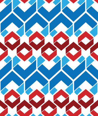 охватывающей: Яркий искусственный бесшовные узор с ромбами, красочные бесконечная геометрическая мозаика текстиль, вектор модно покрытие. Иллюстрация