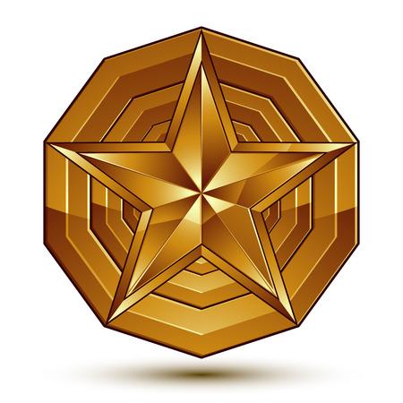 glorioso: Vector glorioso elemento brilhante design, luxo 3d golden star, modelo gr�fico conceitual, EPS 8 claras. Ilustra��o