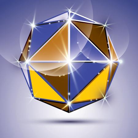 mirror ball: Vector ilustraci�n de estilo, brillante efecto caleidoscopio de dise�o, eps10. Partido 3D twinkle bola de espejos.