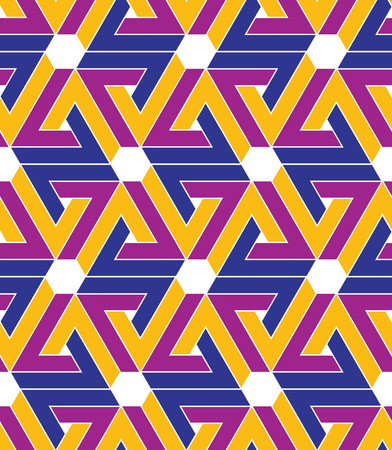 Rhythmic pastel textured geometric endless pattern with stylized triangles and hexagons, inspired seamless tartan ethnic geometric background.