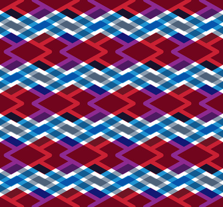 Colorful endless vector striped texture, motif abstract contemporary geometric background. Creative zigzag symmetric continuous pattern. Vector