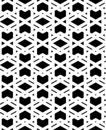 interlace: In bianco e nero con texture astratto geometrico senza soluzione di continuit�. Symmetric monocromatica vettore sfondo tessile. Linee di giunzione.