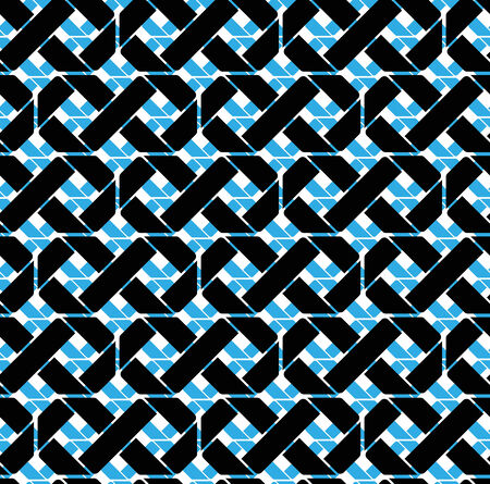 Colorful geometric seamless pattern, symmetric endless vector background with crossed lines. Abstract crossing concept covering.