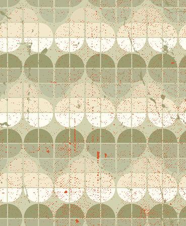crannied: Neutral worn textile geometric seamless pattern, vector decorative background.
