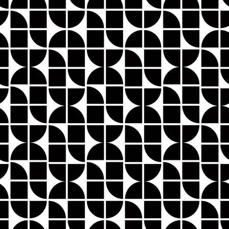 covering cells: Black and white abstract geometric seamless pattern, contrast regular elliptic shaped background. Illustration