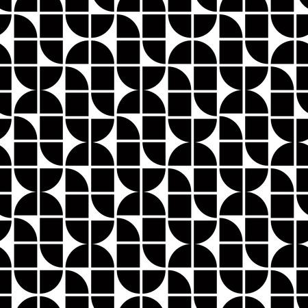 elliptic: Black and white abstract geometric seamless pattern, contrast regular elliptic shaped background. Illustration