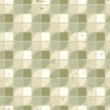 crannied: Vintage neutral rounded segmented seamless pattern, vector geometric background.