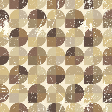 carpet and flooring: Vintage neutral seamless pattern, vector spherical abstract background.