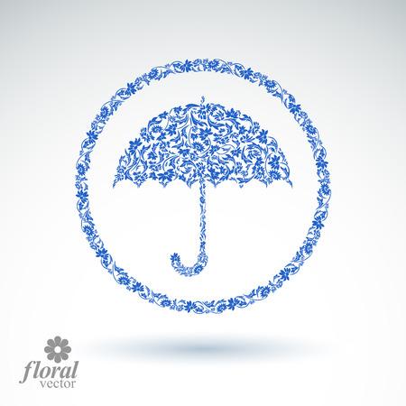 brolly: Hermosa paraguas flor-patr�n. Accesorio estilizada - sombrilla creativo, paraguas ilustraci�n gr�fica, mejor para su uso en dise�o publicitario y web.