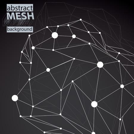 contraste: Espacial vector negro y blanco digitales eps8 fondo, fondo de contraste con la tecnolog�a tridimensional elemento de alambre.