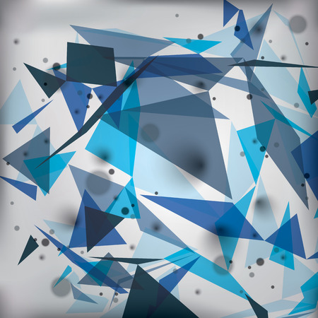 distort: Vector digital 3d abstraction, geometric polygonal perspective unusual illustration. Eps10 blur technical background with transparent shapes.