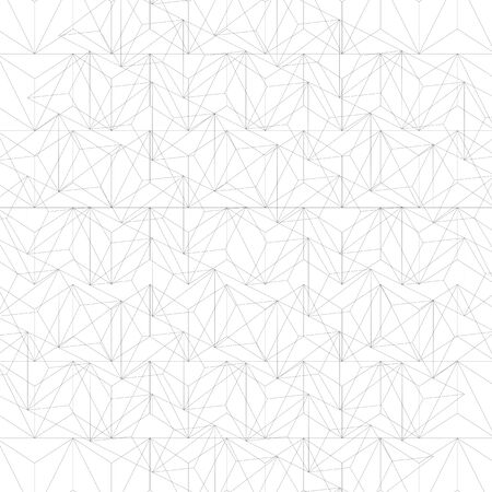 surface covering: Grayscale technology stylish construction, abstract dimensional background with geometric figures. 3d illusive perspective covering, eps10 vector illustration. Op art surface, internet technology backdrop.