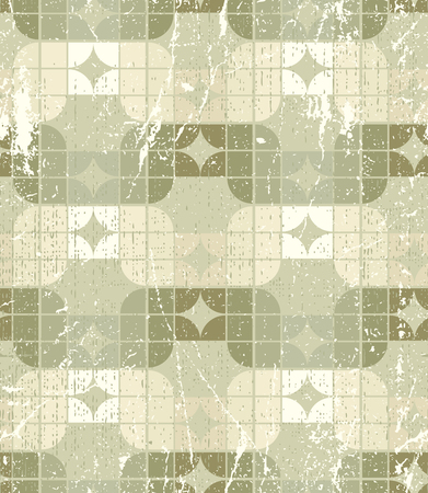 tattered: Neutral tattered textile geometric seamless pattern, decorative abstract infinite retro background.