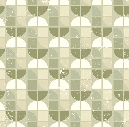 crannied: Neutral tattered textile geometric seamless pattern, vector abstract infinite retro background.