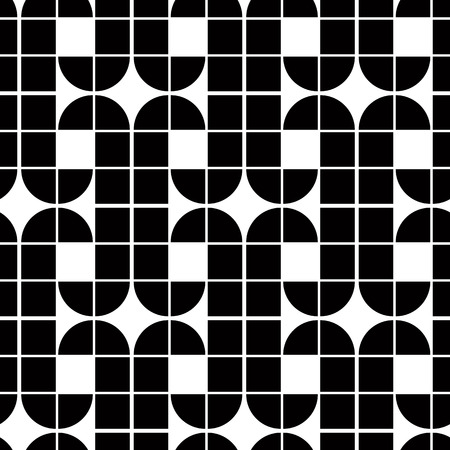 covering cells: Black and white abstract seamless pattern, contrast regular background with geometric shapes. Illustration
