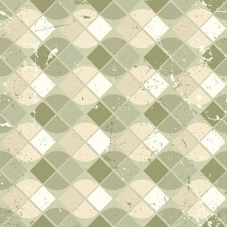Vintage wavy geometric seamless pattern, vector neutral worn background. Vector
