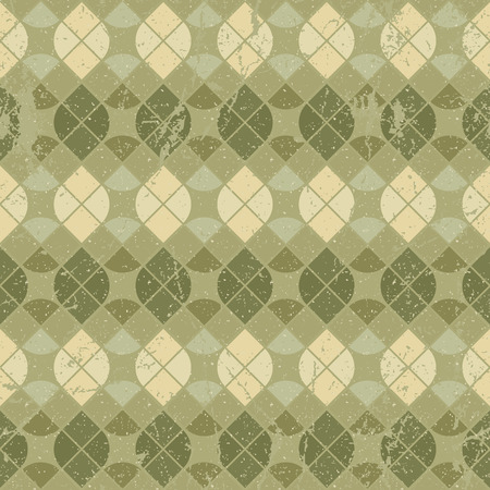 carpet and flooring: Vintage floral decorative seamless pattern, geometric abstract backdrop. Illustration