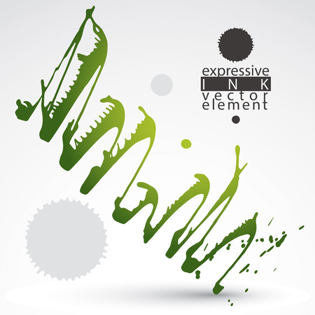 Watercolor bright graffiti splash element, inaccurate paint backdrop, eps8 asymmetric spotted shape. Illustration