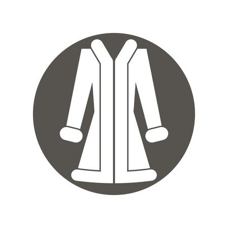 tog: Cloth icon, vector illustration of woman coat. Illustration