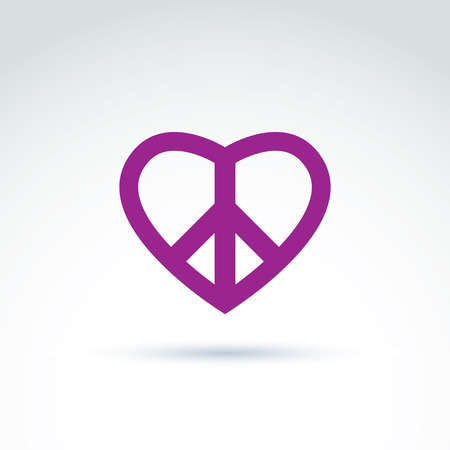 Peace And Love Theme Antiwar And Love Vector Icons Loving