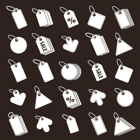 simplistic: Tag icons vector set, retail theme simplistic symbols vector collections. Illustration