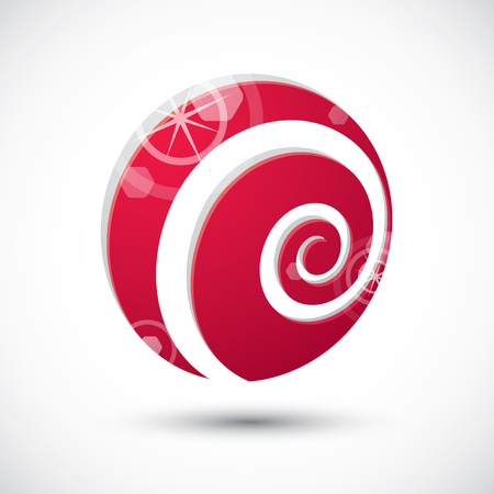 icon 3d: Curl symbol , abstract icon, 3d vector symbol
