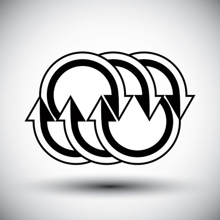 new idea: Arrows template conceptual icon, special abstract new idea vector symbol.
